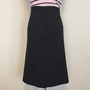 Banana Republic heathered gray midi a-line skirt